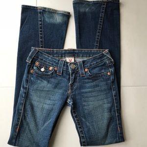 True Religion Joey Distressed Cotton Blend Jeans